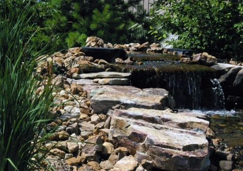 backyard water fall